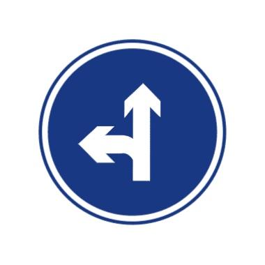 直行和向左转弯