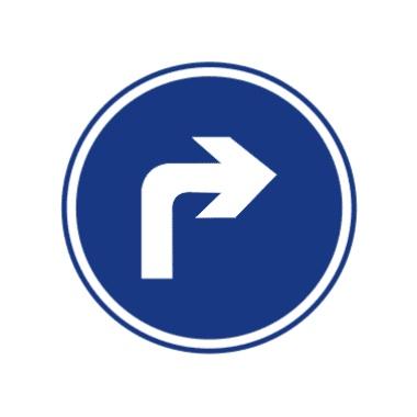 右转弯符号_交通标志 交通标志图片大全